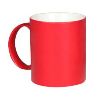Personalised Matte Colour Change Mugs - Red